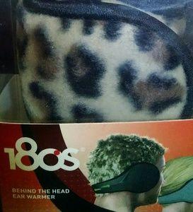 Unisex 180s Leopard print ear warmer/muffs